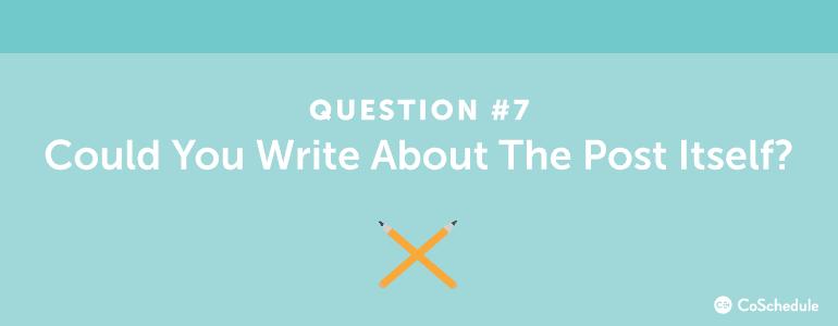 content ideas question seven