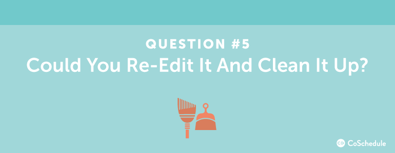 content ideas from re-editing posts