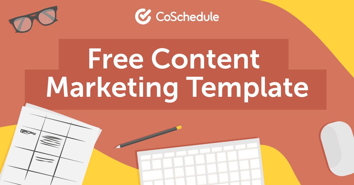 Free Content Marketing Calendar Template