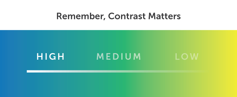 Remember, Contrast Matters