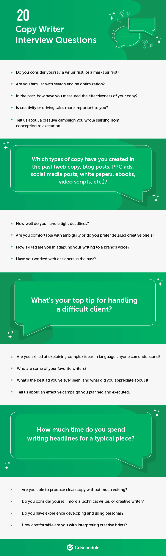 20 Copywriter Interview Questions