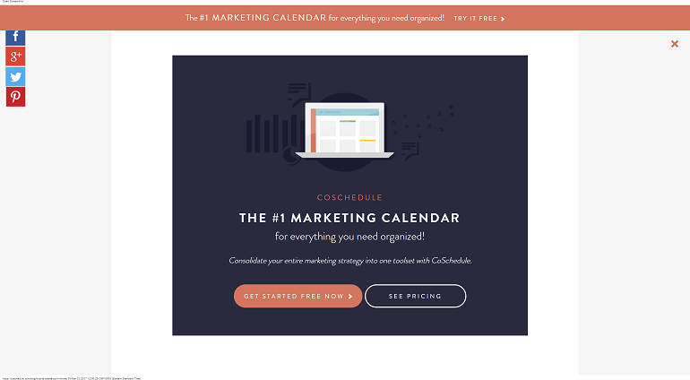 Example of a CoSchedule CTA