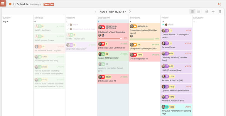 See your entire marketing calendar in one place with CoSchedule.