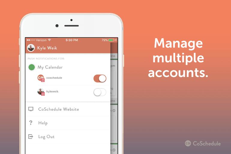 Manage Multiple Instagram Accounts in CoSchedule