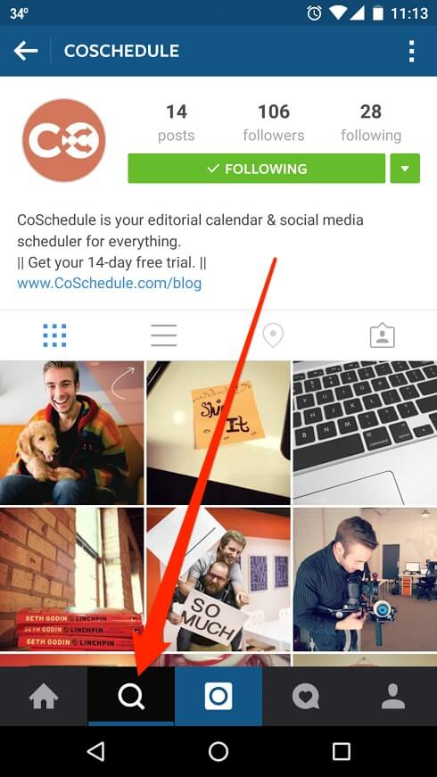 Where to find hashtags on Instagram