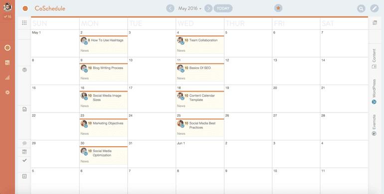 CoSchedule marketing collaboration calendar