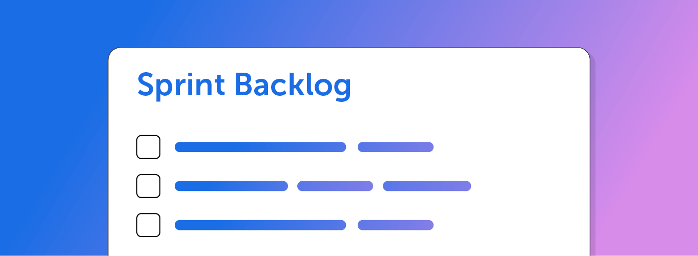 Building a sprint backlog in CoSchedule
