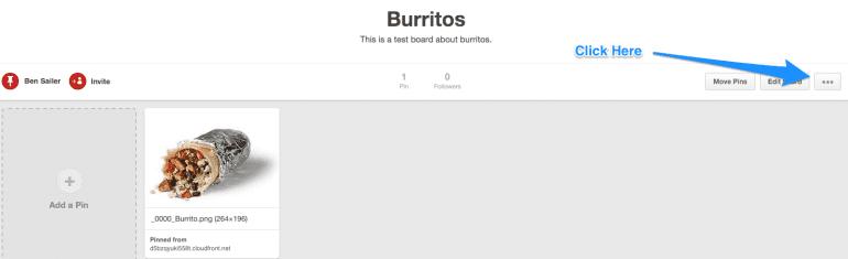 Create a Pinterest widget screenshot