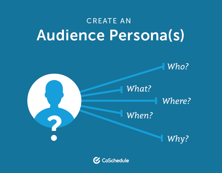 Create an audience persona