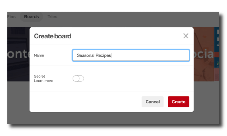 Example of how to create a board.