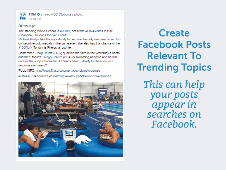 Create Facebook posts that are relevant to trending topics