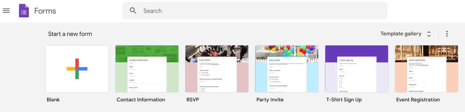 Creating a Google Form