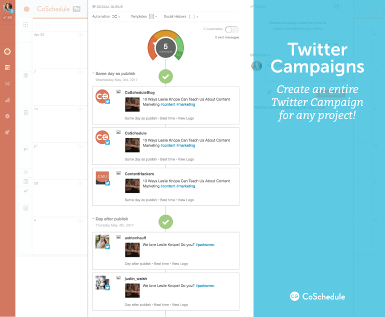 Create Twitter Campaigns In CoSchedule