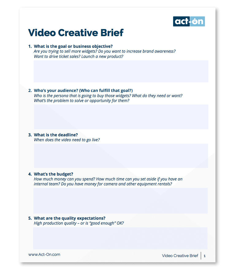 marketing campaign brief template