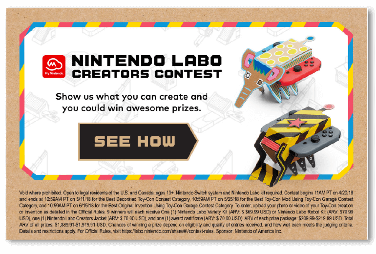 Creative email CTA from Nintendo promoting a contest