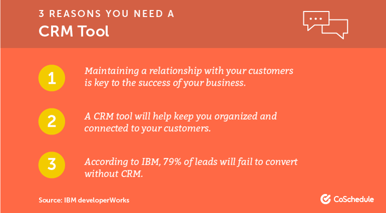 3 Reasons You Need a CRM Tool