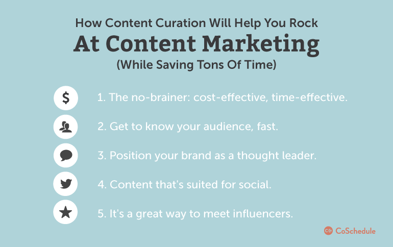 curate content to save time
