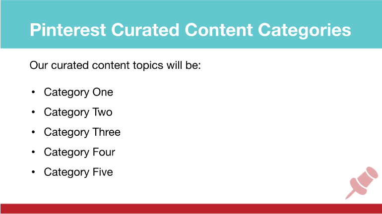 Pinterest Marketing Strategy: Curated Content Categories