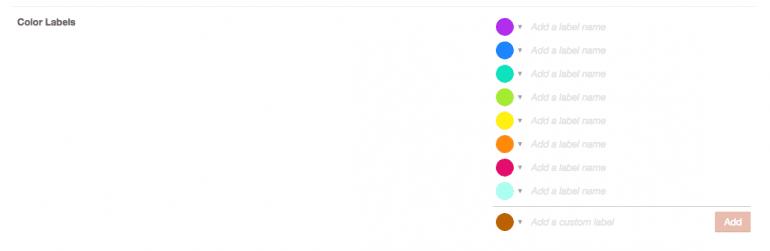 Custom color labels in CoSchedule