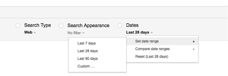 Custom Date Range