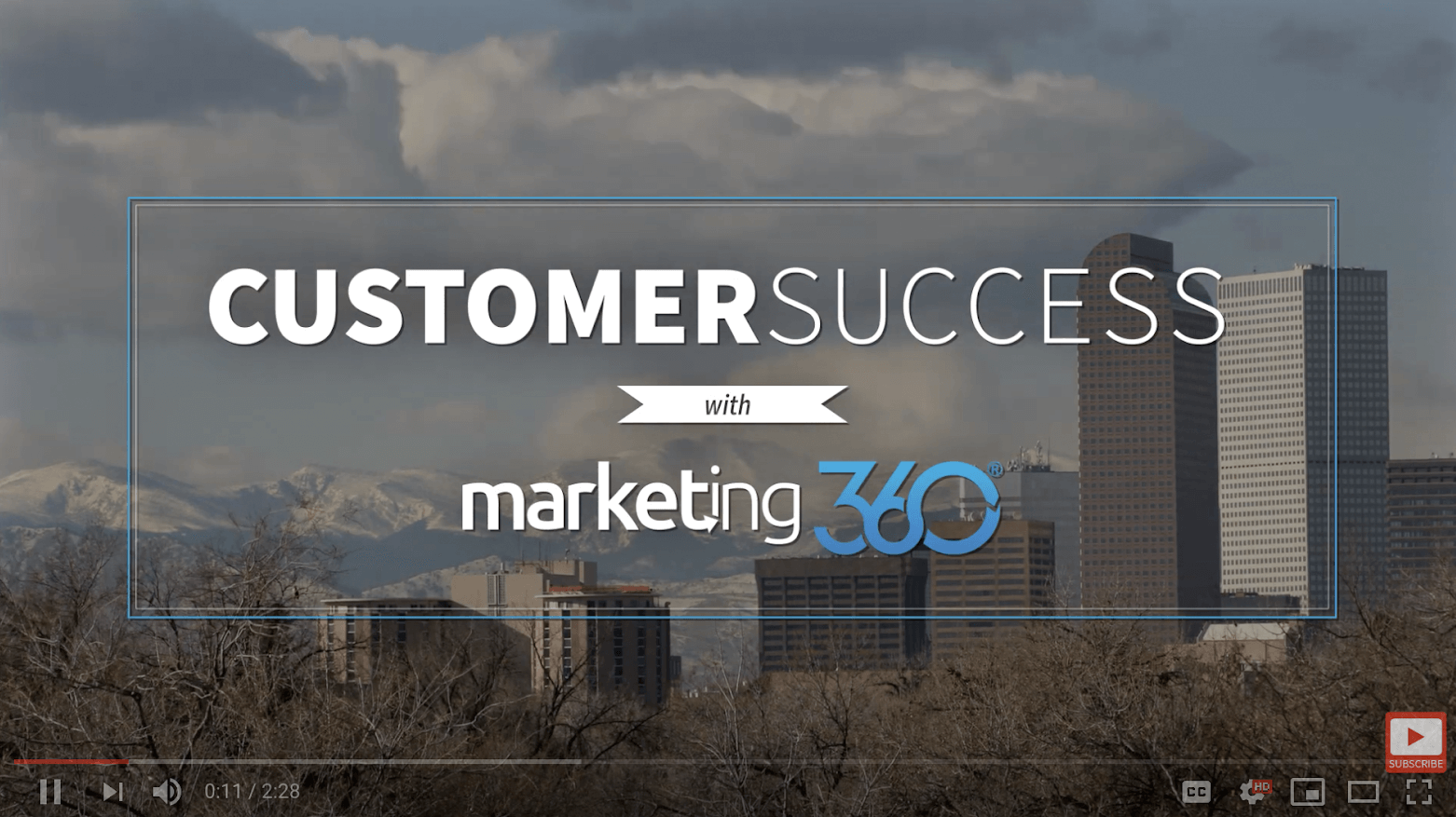 Screenshot of the Customer Success with Marketing 360 from Liftech