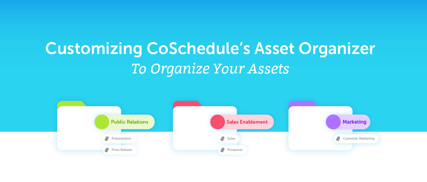 Customizing Coschedule's Asset Organizer to Organize Your Assets