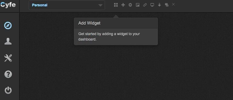 Add a widget in Cyfe