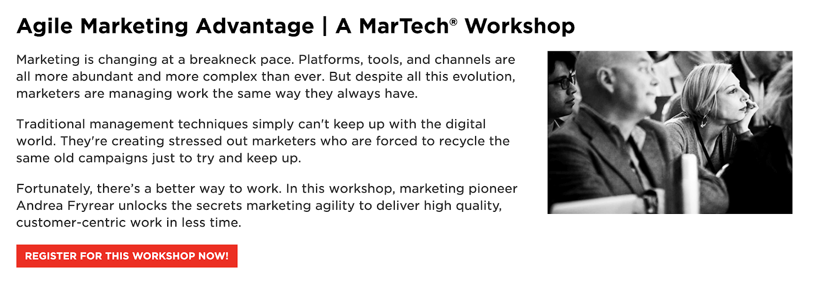 MarTech: Agile Marketing Advantage (Workshop)