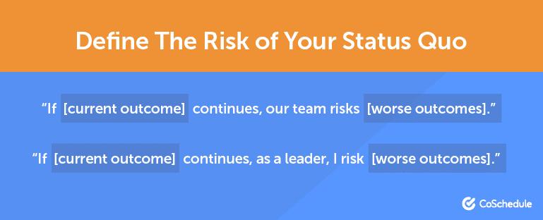 Define the Risk of Your Status Quo