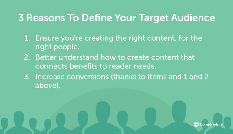 3 Reasons to Define a Target Audience