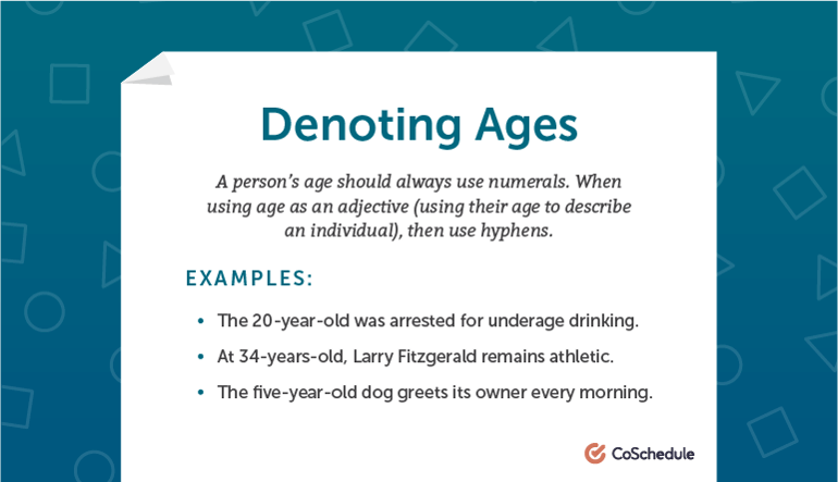 How to Denote Ages in AP Style
