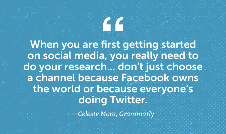 When you are first getting started on social media, do your research ...