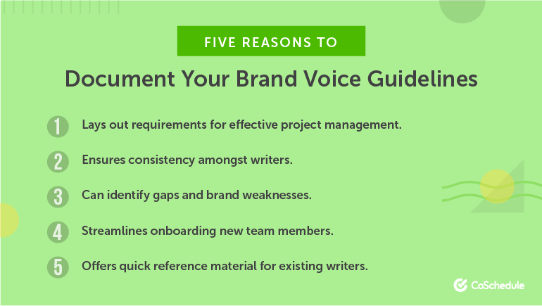 5 Reasons to Document Your Brand Voice Guidelines