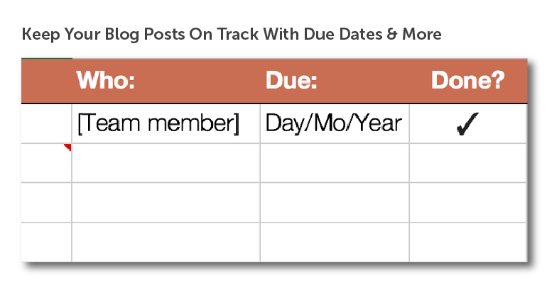 Keep team members on track with clear due dates.