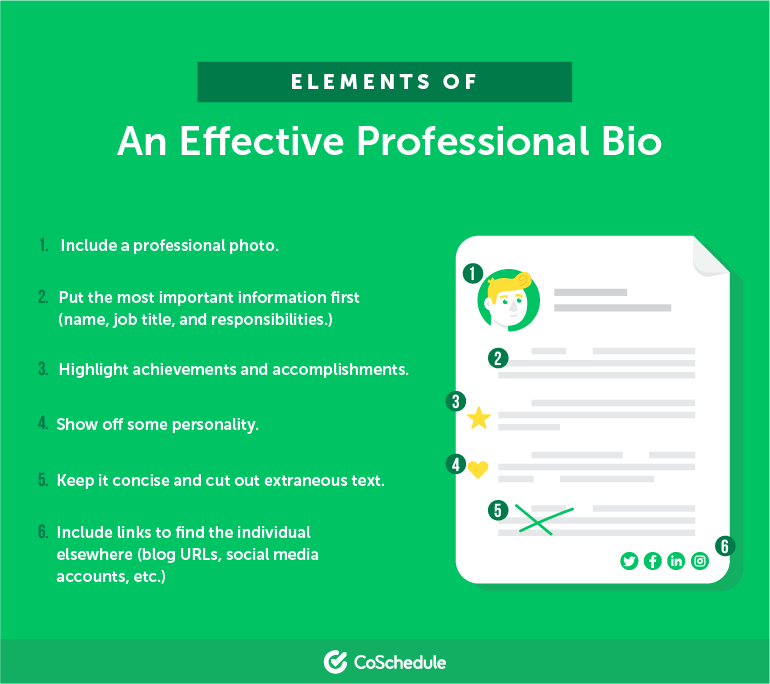 Elements of an Effective Professional Bio