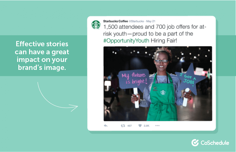 Effective stories can have a great impact on your brand's image.