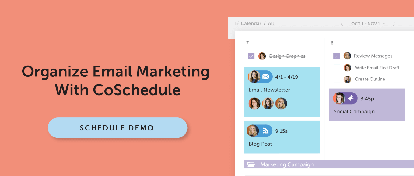 Organize Email Marketing With CoSchedule