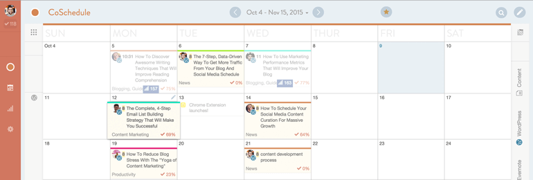 email list building tips CoSchedule calendar