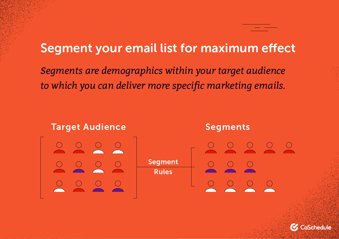 Segment your email list for maximum effect