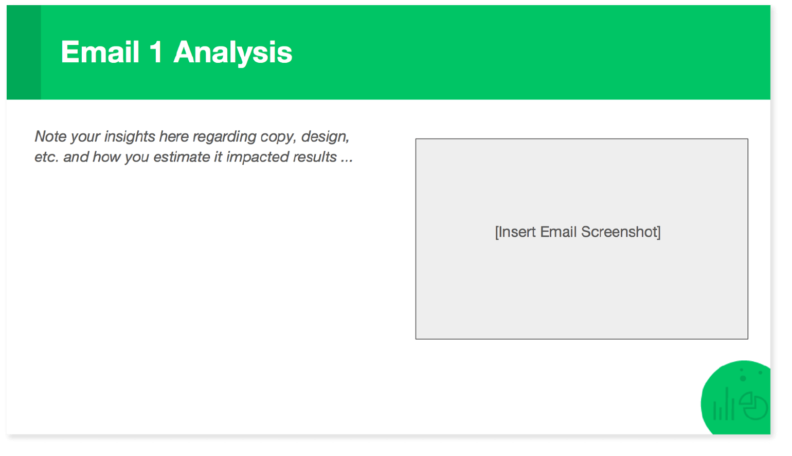 Screenshot of the report template