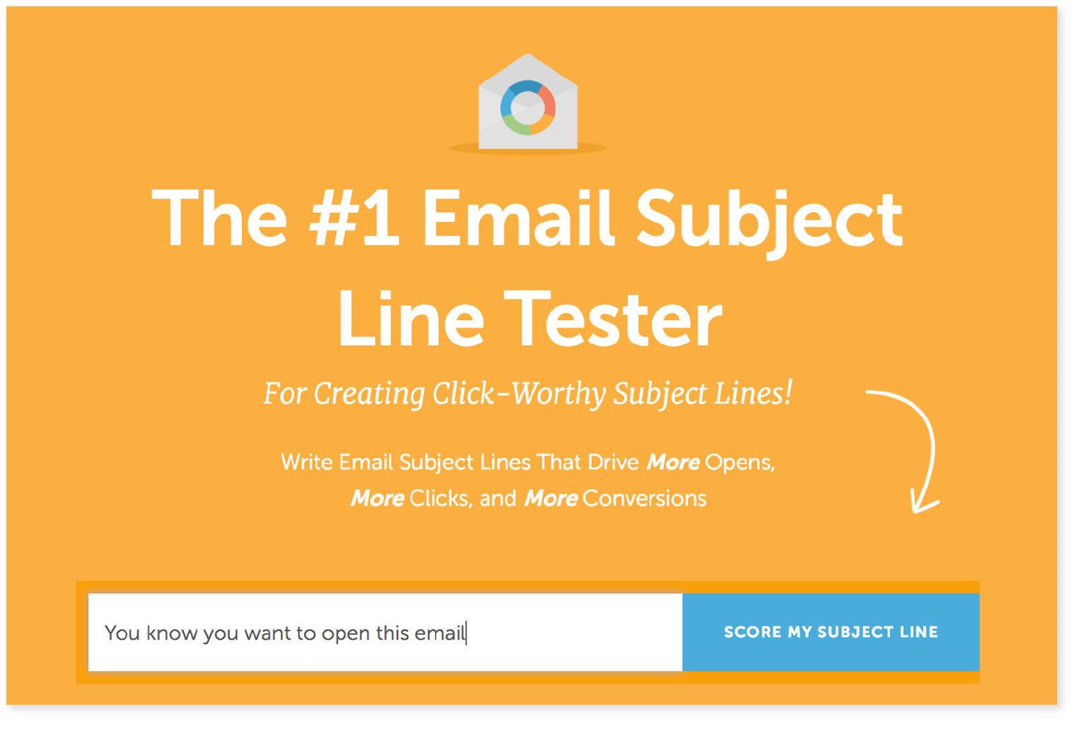 Example from the email subject line tester