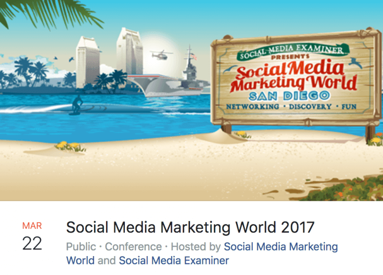 Example of an event promo post