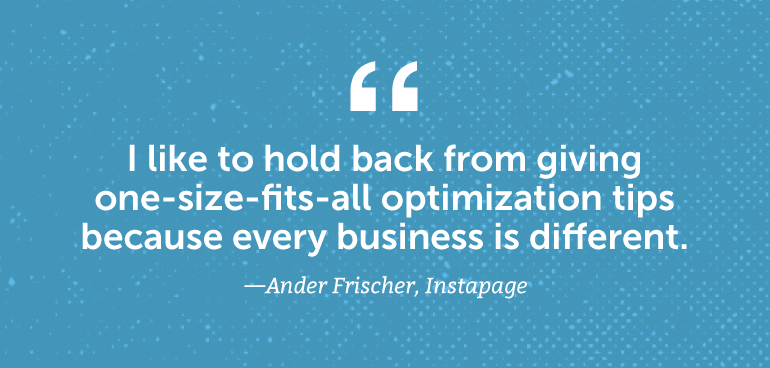 I like to hold back from one-size-fits-all optimization tips