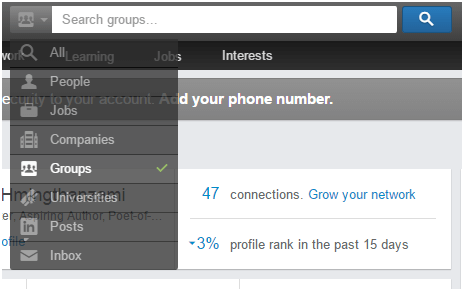 Example of a LinkedIn group