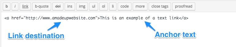 Example a link in HTML