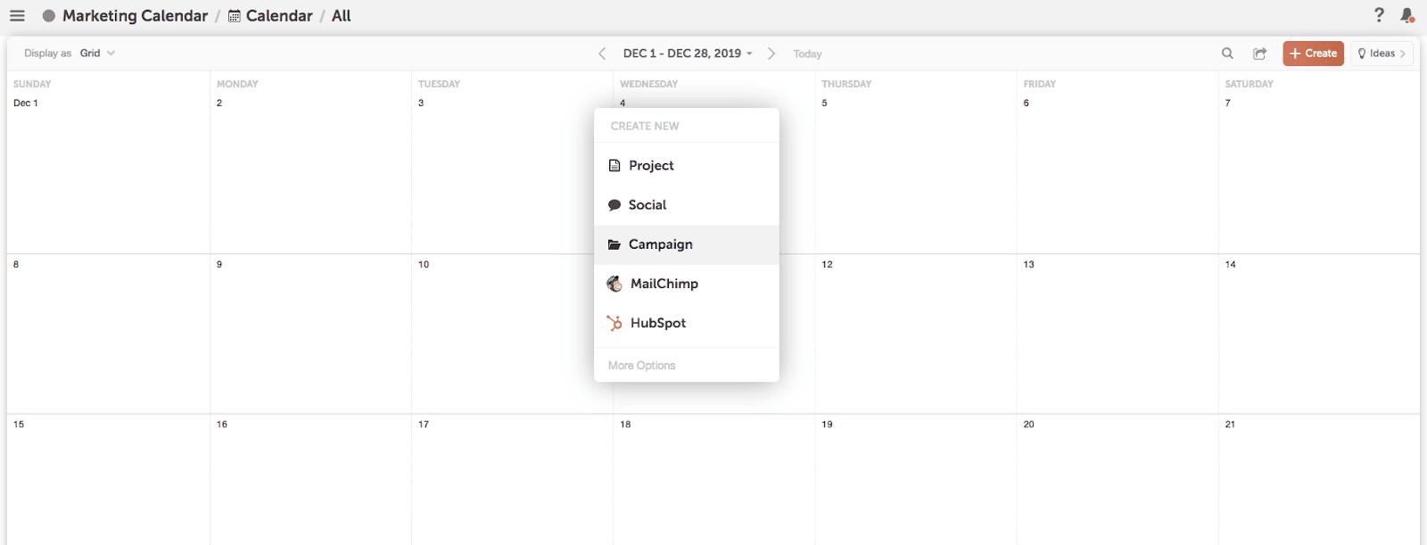 Adding campaign to calendar