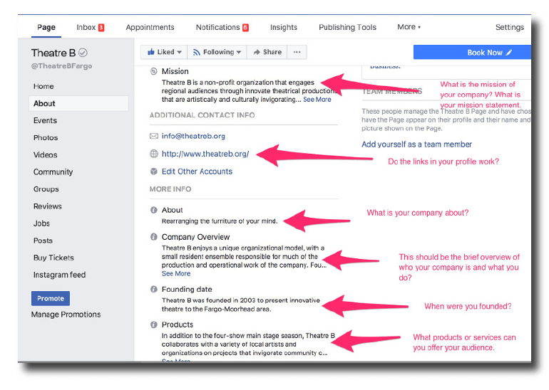 How to optimize your Facebook About section.