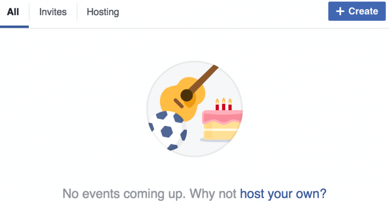 Example of a Facebook event