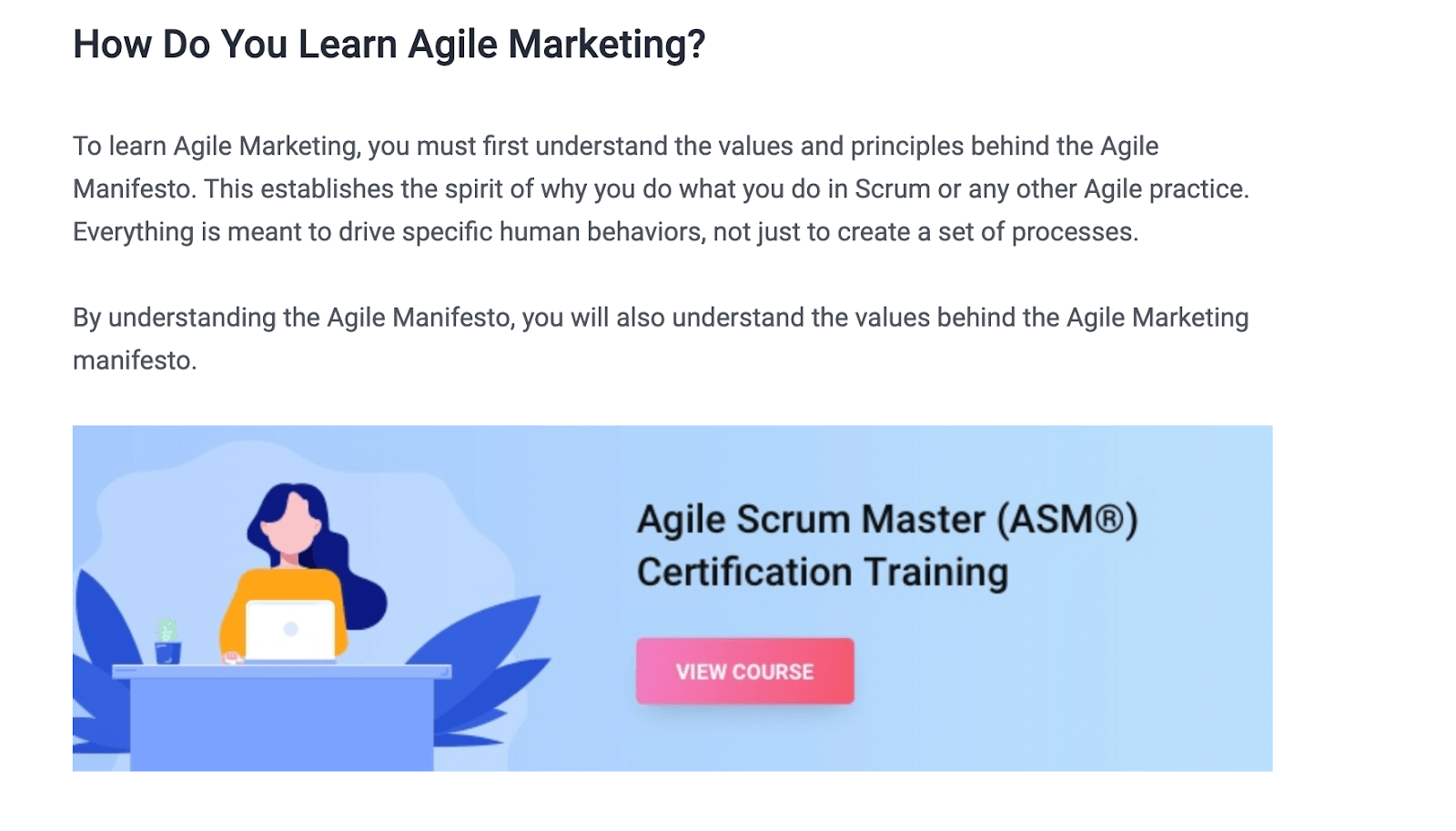 Simplilearn: What Is Agile Marketing and Why Do You Need It (Article + Certification)