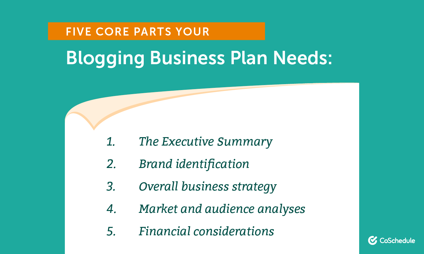 Five Core Parts Your Blogging Business Plan Needs